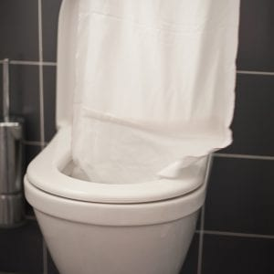 tečúce WC